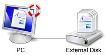 Sauvegarde sur un disque dur externe avec Live File Backup